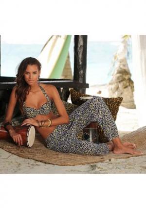 Пляжные брюки Sunseeker. Цвет: леопардовый с набивным рисунком