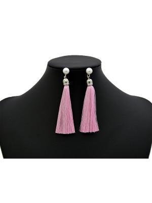 Серьги Miss Bijou. Цвет: розовый, серебристый
