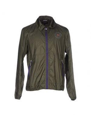 Куртка GLOVERALL. Цвет: темно-зеленый