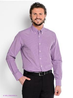 Рубашка MONDIGO. Цвет: фиолетовый, белый