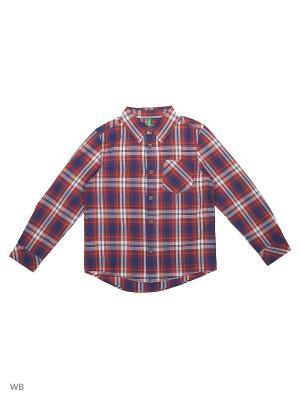 Рубашка United Colors of Benetton. Цвет: лиловый