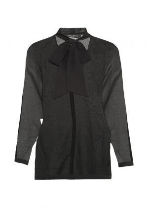 Блуза из шелка с хлопком 177501 Cyrille Gassiline. Цвет: черный