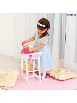 Кукольный стул для кормления PAREMO. Цвет: белый