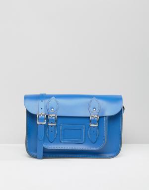 Leather Satchel Company Портфель. Цвет: синий