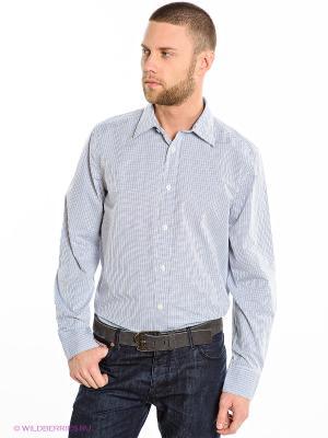 Рубашка Crew Clothing. Цвет: голубой, белый