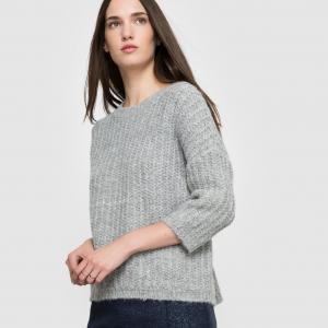 Пуловер с рукавами 3/4 SUD EXPRESS. Цвет: жемчужный