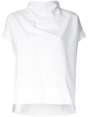 Блузка с отворотной горловиной Demoo Parkchoonmoo. Цвет: белый