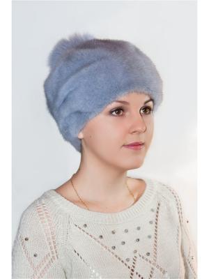 Шапка Slava Furs. Цвет: голубой