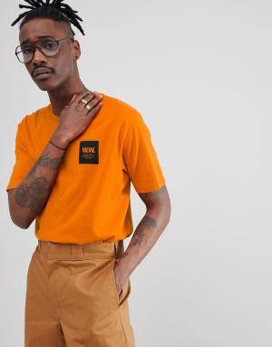 Wood Оранжевая футболка с логотипом. Цвет: оранжевый