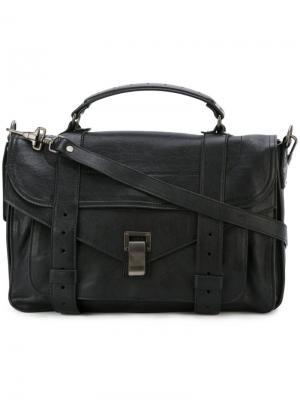 Средняя сумка-сэтчел PS1 Proenza Schouler. Цвет: чёрный
