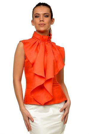 Блузка Mashenka by J.A.. Цвет: морковный