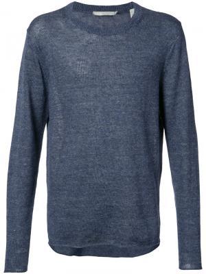 Вязаный свитер Vince. Цвет: синий
