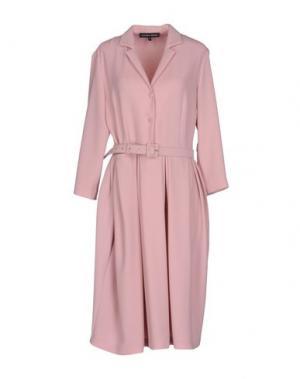 Платье до колена ALEXANDER TEREKHOV. Цвет: розовый