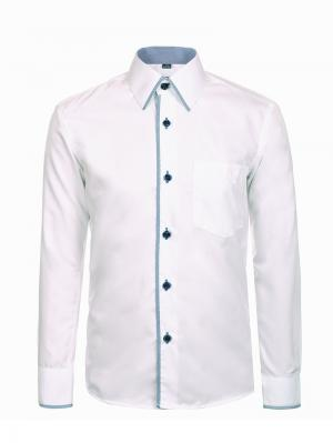 Рубашка Brostem. Цвет: белый, бирюзовый