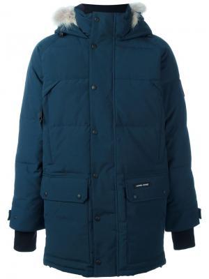 Пуховое пальто Emroy Canada Goose. Цвет: синий