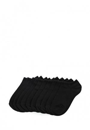 Комплект носков 10 пар oodji. Цвет: черный