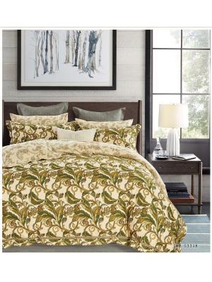Комплект постельного белья ROMEO AND JULIET. Цвет: зеленый, темно-зеленый, светло-коричневый, бежевый