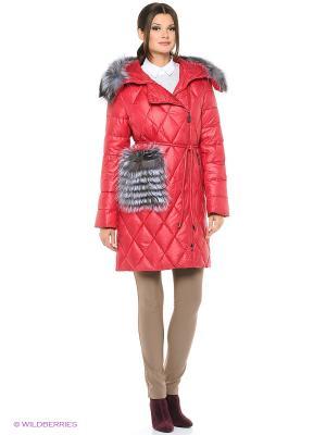 Стеганое пальто FREYA. Цвет: красный