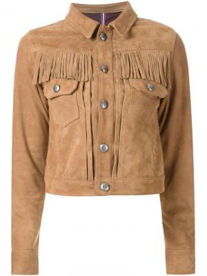 Куртка с бахромой Guild Prime. Цвет: коричневый