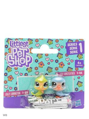 Набор два пета Littlest Pet Shop. Цвет: зеленый, голубой