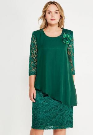 Платье Indiano Natural. Цвет: зеленый