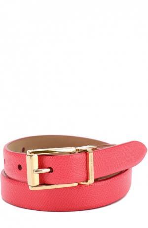 Ремень из тисненой кожи Dolce & Gabbana. Цвет: розовый