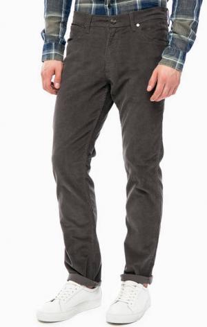 Серые вельветовые брюки Wrangler. Цвет: серый
