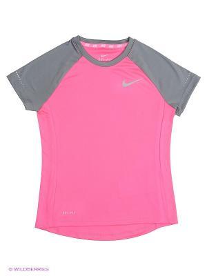 Футболка MILER SS CREW GYTH Nike. Цвет: розовый