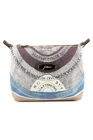 Cosmetics bag Gattinoni. Цвет: brown, white, blue