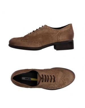 Обувь на шнурках MANAS. Цвет: песочный