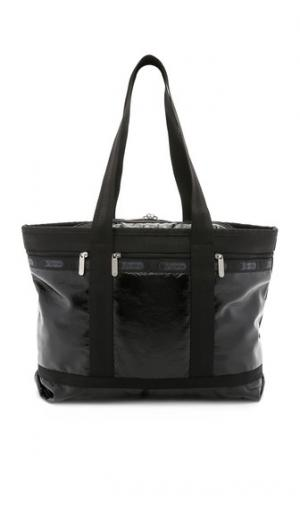 Объемная дорожная сумка с короткими ручками среднего размера LeSportsac