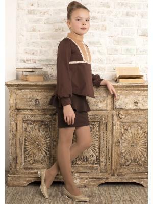 Блуза Picoletto. Цвет: коричневый