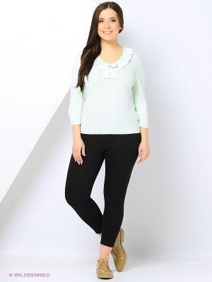 Пуловер Milana Style. Цвет: зеленый