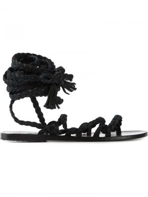 Сандалии Kariatida Ancient Greek Sandals. Цвет: чёрный