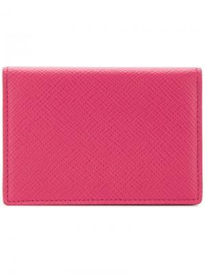 Кошелек с застежкой на кнопку Smythson. Цвет: розовый и фиолетовый