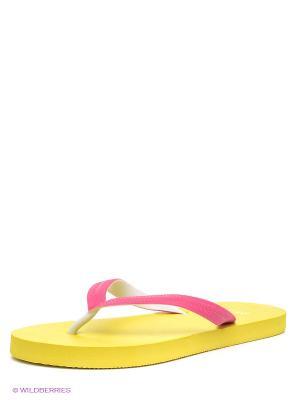 Шлепанцы INCITY. Цвет: розовый, желтый