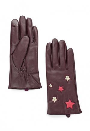 Перчатки Topshop. Цвет: бордовый