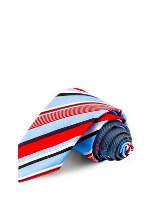 Галстуки CASINO. Цвет: голубой, белый, красный
