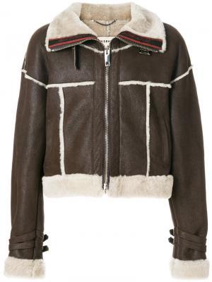 Укороченная куртка-бомбер Misbhv. Цвет: коричневый