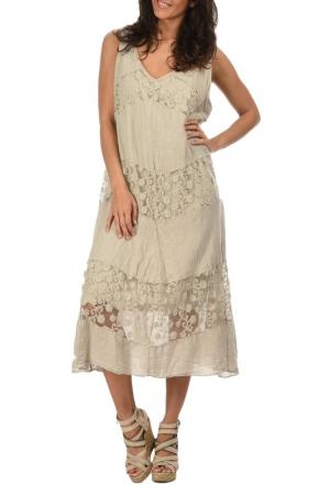 Платье Lin nature. Цвет: beige
