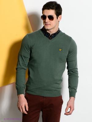 Пуловер Lyle&Scott. Цвет: темно-зеленый