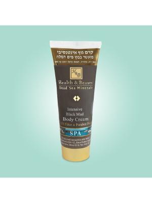 Крем для тела Health & Beauty интенсивный на основе грязи Мертвого моря, 200мл. Цвет: серый