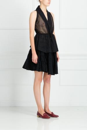 Хлопковая юбка Azzedine Alaïa. Цвет: черный
