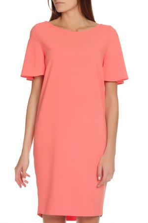 Яркое повседневное платье с овальным вырезом D.Exterior. Цвет: розовый