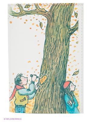 Обложка для автодокументов Признание в любви Mitya Veselkov. Цвет: белый, зеленый, желтый