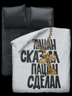 Комплект постельного белья Симачев. Цвет: черный