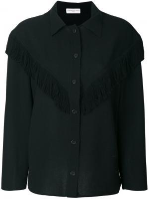 Рубашка с бахромой Veronique Leroy. Цвет: чёрный