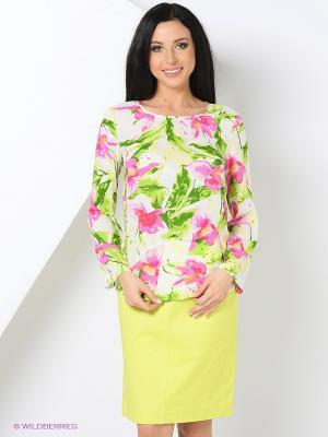 Блузка Femme. Цвет: белый, зеленый, розовый