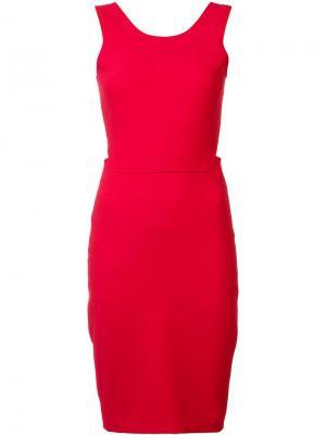 Платье с вырезом на спине Elizabeth And James. Цвет: красный