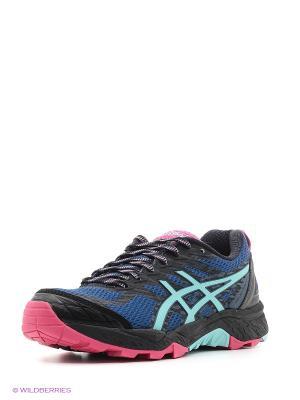 Спортивная обувь GEL-FujiTrabuco 5 ASICS. Цвет: синий, розовый